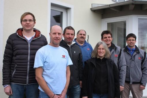 von links nach rechts: Martin Hofmeister, Rainer Oberhans, Erwin Lanzinger, Andreas Niederbuchner, Elke Seehuber, Bernhard Posch und Hans Hofmeister
