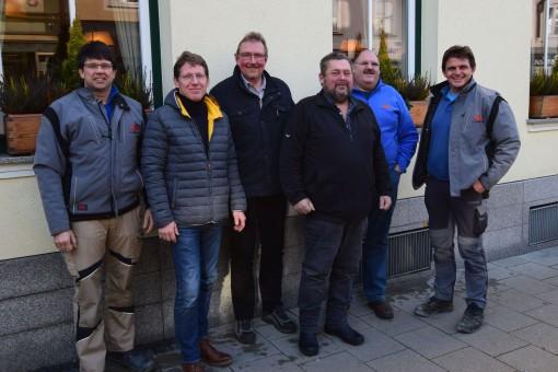 v. links n. rechts: Hans Hofmeister, Felix Thom, Rainer Friedl, Rudolf Willeitner, Andreas Niederbuchner, Bernhard Posch