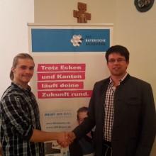 v.l.: Erik Schuda, Geschäftsführer Hans Hofmeister