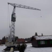 Erster v. Fa. Liebherr vor 70 Jahren entwickelter mobiler Turmdrehkran