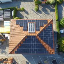 Photovoltaikanlage auf dem Bürogebäude der Fa. Posch Bau in Nußdorf